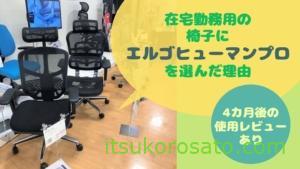 在宅ワーク用にいい椅子を買ってみた[エルゴヒューマン プロ]【使用4カ月経過レビュー追記】